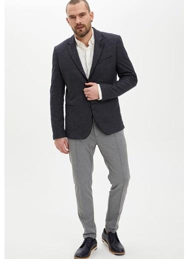 DeFacto Modern Fit Blazer Ceket Lacivert